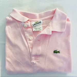 Lacoste girls 12 polo short sleeve light pink